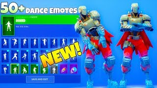 NEW! AIM BOT ROBOT SKIN! With 50+ Dance Emotes SHOWCASE! Fortnite Battle Royale