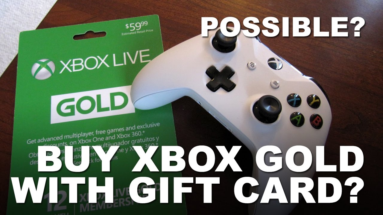 Can I Use Xbox Gift Card To Buy Xbox Live Gold
