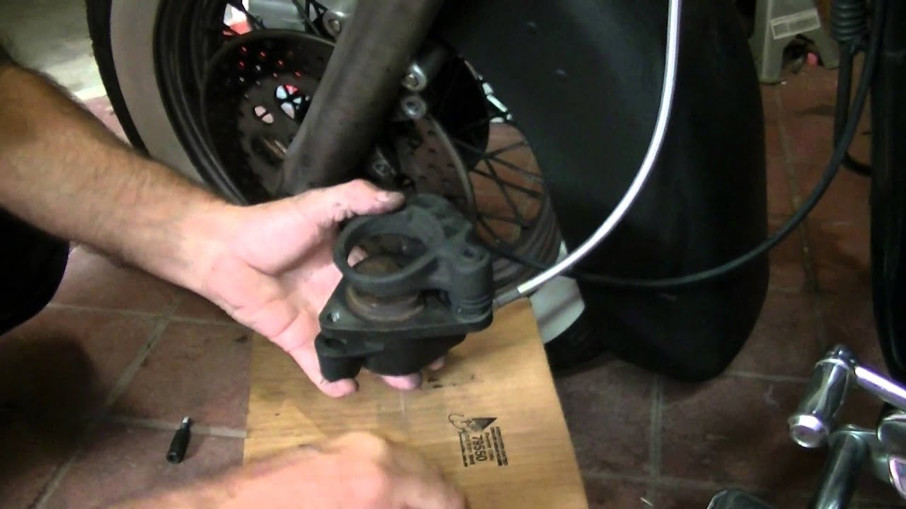 Replace front brake pads 1991 Harley Davidson heritage softail