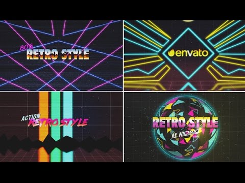 80 s retro logo reveal kit after effects template youtube