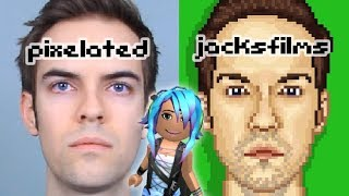 ROBLOX - creating youtuber Jacksfilms in Pixel Art Creator 64x64px