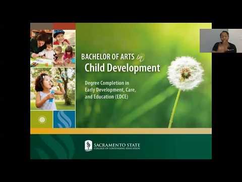 B.A. in Child Development Information Session - CSU, Sacramento