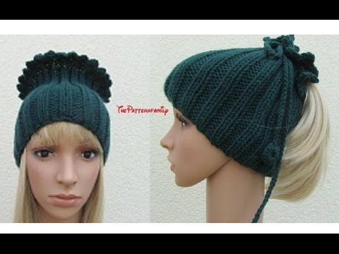 How To Knit A Ponytail Hat Pattern 391by Thepatternfamily Youtube