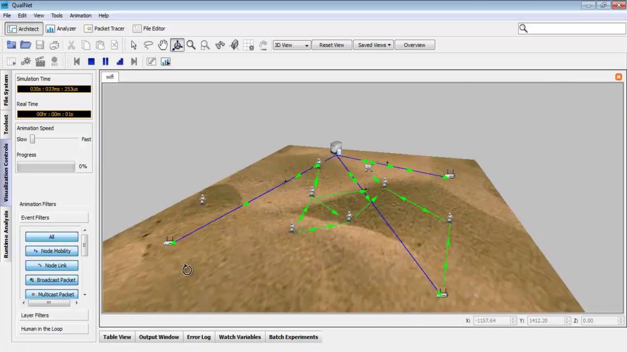 Qualnet simulator tutorial