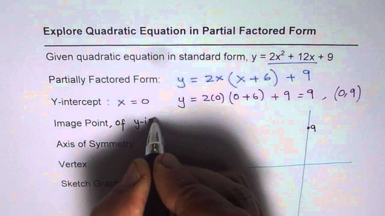 Partial factored form of quadratic equation youtube partial factored form of quadratic equation falaconquin