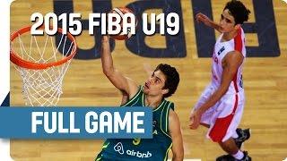 Tunisia v Australia - Group C - Full Game - 2015 FIBA U19 World Championship