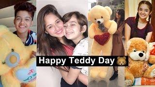 Happy Teddy Day Tiktok Videos | Jannat, Anushka, Riyaz, Manjul, Avneet, Awez, Ashika