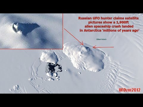 A Crashed Ufo Found In Antarctica? A 1,900-foot alien spacecraft accident landed?