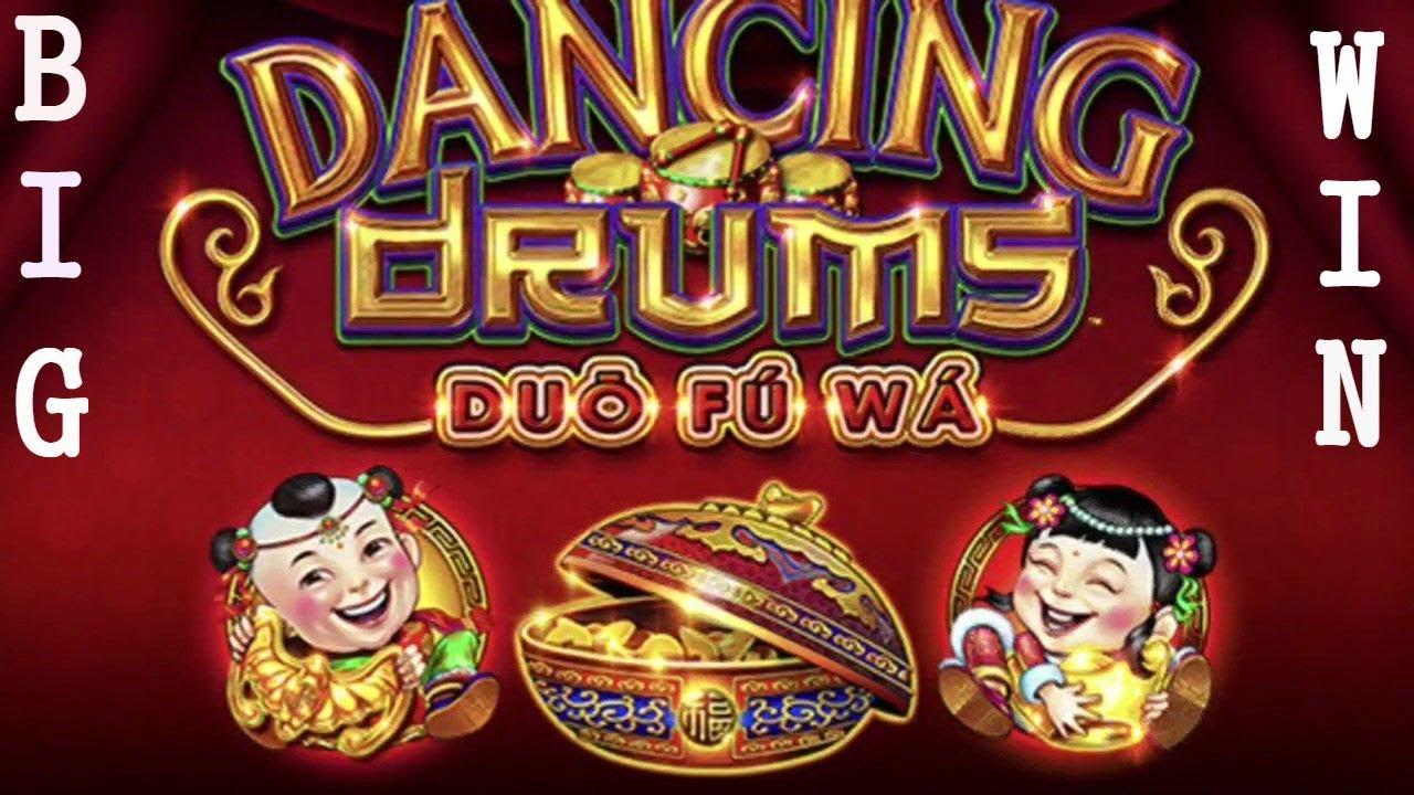 Big Win Dancing Drums Slot Machine Bonus 3 Spins Youtube
