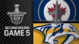 Winnipeg Jets vs Nashville Predators – May. 05, 2018 | Game 5 | Stanley Cup 2018. Обзор
