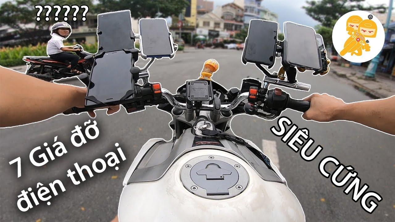 Thử lắp 7 CÁI GIÁ ĐỠ ĐIỆN THOẠI SIÊU CỨNG lên xe Moto Fz150 test độ rung – Xe Ôm Shop