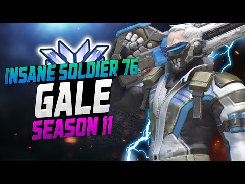 Gale - INSANE DPS Soldier 76? [ OVERWATCH SEASON 11 TOP 500 ] thumbnail