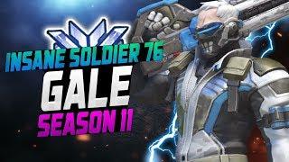 Gale - INSANE DPS Soldier 76? [ OVERWATCH SEASON 11 TOP 500 ]