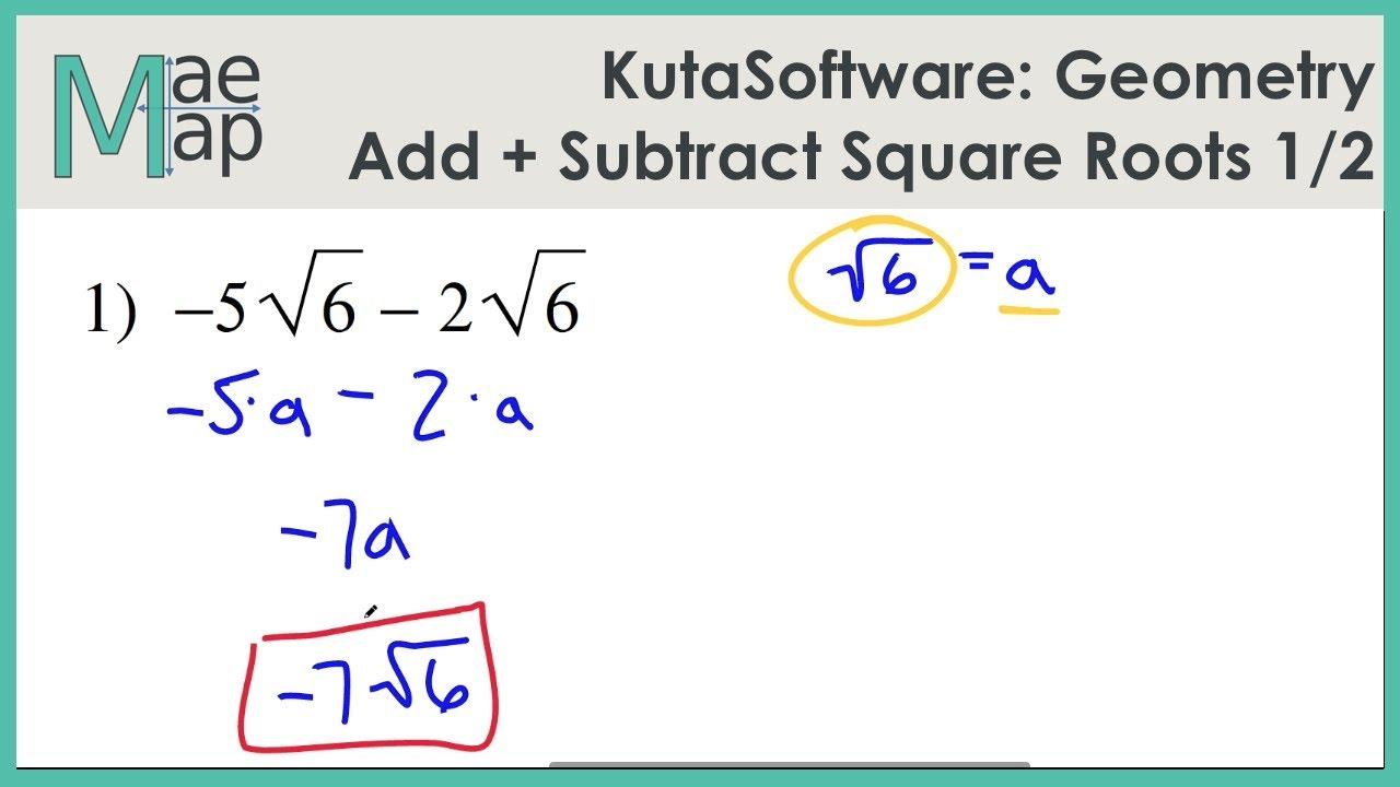 kutasoftware geometry adding and subtracting square roots part   kutasoftware geometry adding and subtracting square roots part