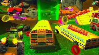ИГРОВОЙ ВЕСЕЛЫЙ МУЛЬТИК .Гонка на машинках за короной #2 .Crash Drive 2. GAMES FUNNY CARTOON..