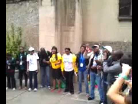 Zambia Pilgrins singing Jabulani Africa - WYD 213 @ Santo Afonso