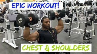 Epic Chest & Shoulders Workout + Eat Big or Stay Small | Fit Soldier
