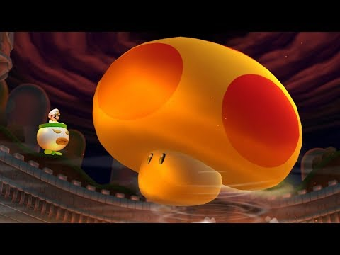 New Super Mario Bros U Deluxe - Mega Mushroom Final Boss & Ending