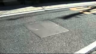 Частичный ремонт дороги в Японии
