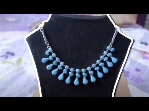 DIY Necklace Display Stand | Teslime Moda