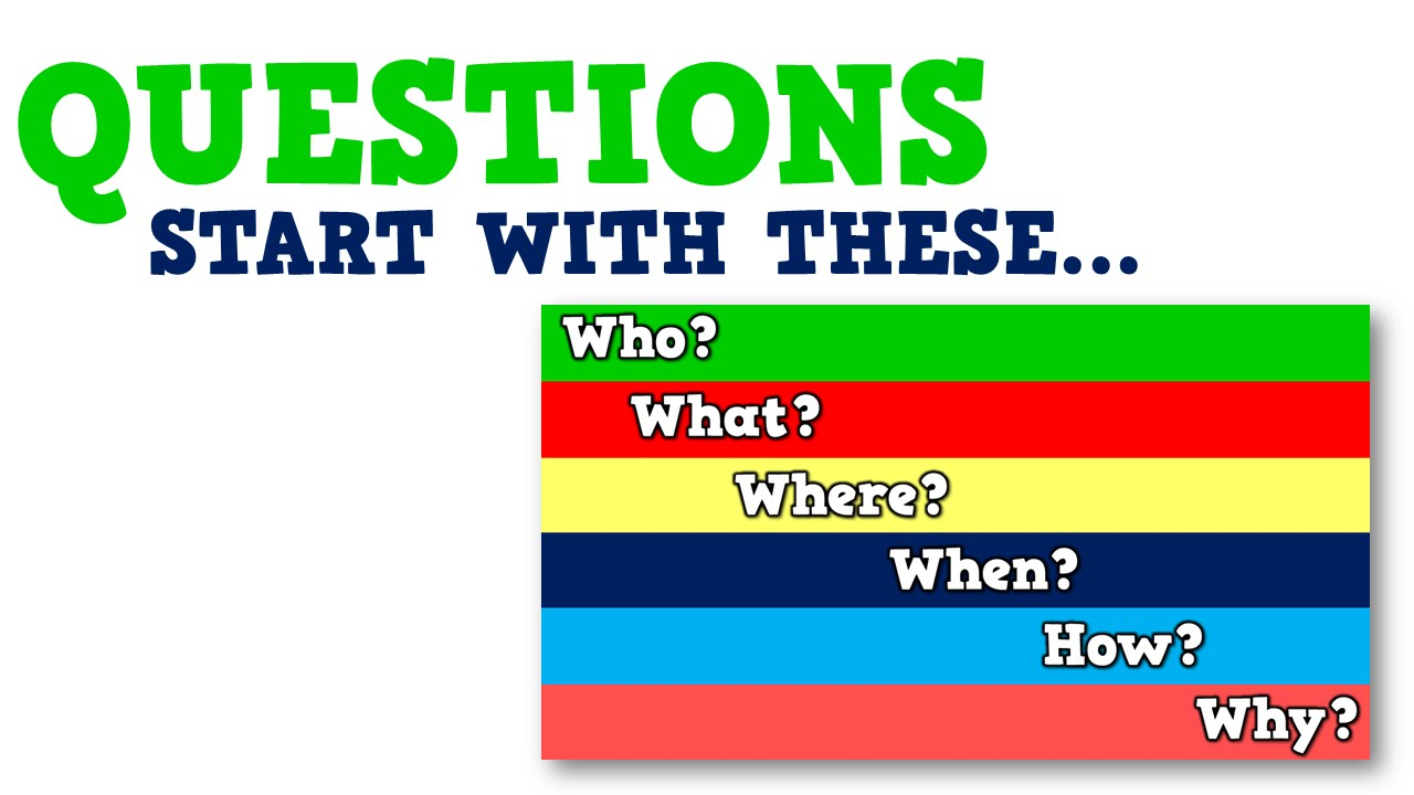 small resolution of Questions Start with These (song for kids about questions vs. statements) -  YouTube