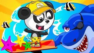 Пиратские Сокровища - Биби Против Акулы - Развивающие Мультики Про Машинки Для Детей