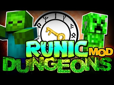 Minecraft Mod | RUNIC DUNGEONS MOD! (Epic Loot from Dungeon Rooms!) - Mod Showcase