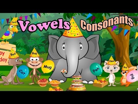 Children's: Vowels, Consonants, and Rhyming Words, ABC, Alphabet Songs, Phonics CVC words