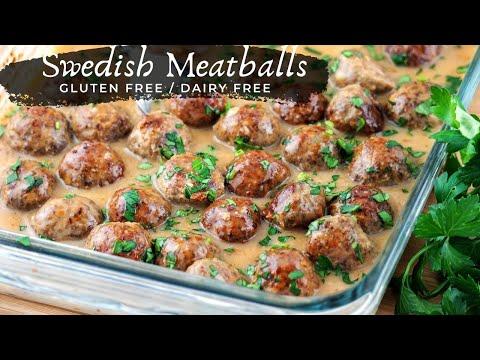 Healthy Gluten Free Swedish Meatballs (Dairy Free Sauce)