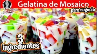 GELATINA DE MOSAICO CON 3 INGREDIENTES PARA NEGOCIO  | Vicky Receta Facil
