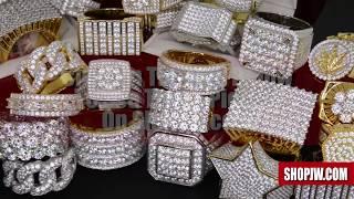 New .925 Silver Simulated Diamond Mens Rings    Shopjw