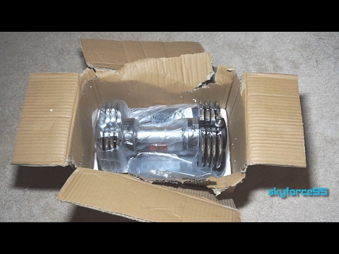 Bayou Fitness Adjustable Dumbbells 5-25 Lb Unboxing