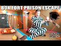 24 HOUR MAXIMUM SECURITY BOX FORT PRISON ESCAPE!! 📦🚔