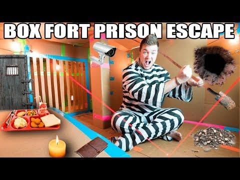 24 HOUR MAXIMUM SECURITY BOX FORT PRISON ESCAPE!!