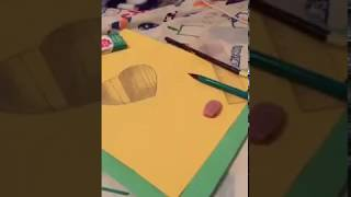 How to draw a heart in 3D in a hole