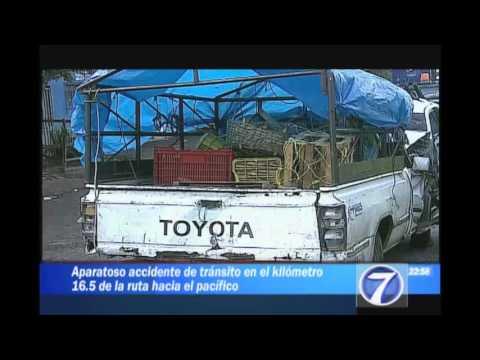 Durante la madrugada se produjo accidente de tránsito en Ruta al Pacífico