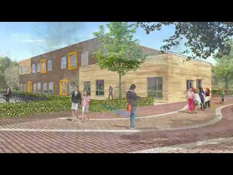 Architectural Animation School Building, Culemborg, Netherlands. By 3D Partners.
