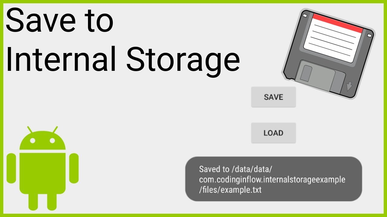 Write Text File to Internal Storage - Android Studio Tutorial