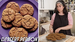 Claire Saffitz Makes Holiday Molasses Spice Cookies | Dessert Person