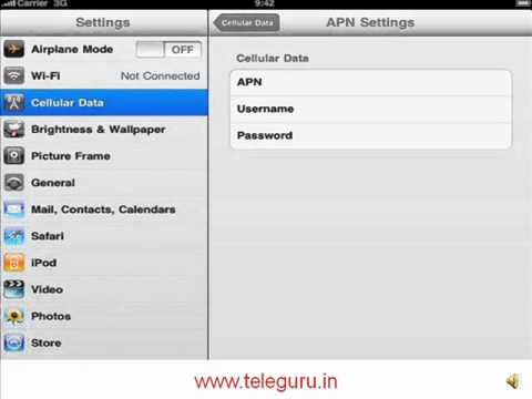 apn settings iphone how to set bsnl 3g on ipad2 iphone 10083