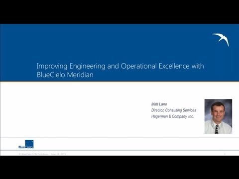 Improving Engineering and Operational Excellence Using BlueCielo Meridian