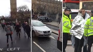 How the Westminster terror attack unfolded on video