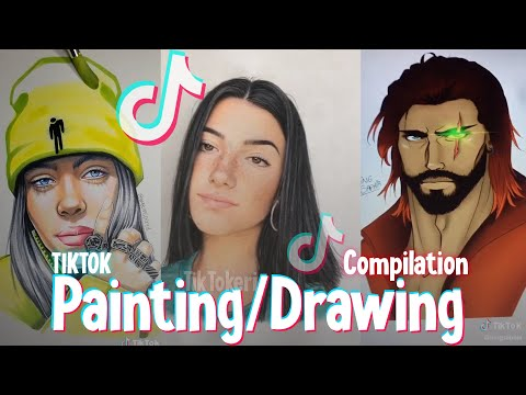 TIKTOK DRAWING/PAINTING COMPILATION - TIKTOK ART COMPILATION #5