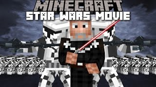 Minecraft STAR WARS MOVIE MOD / CLONE INVASION ON SEPARATIST SHIP!! Minecraft