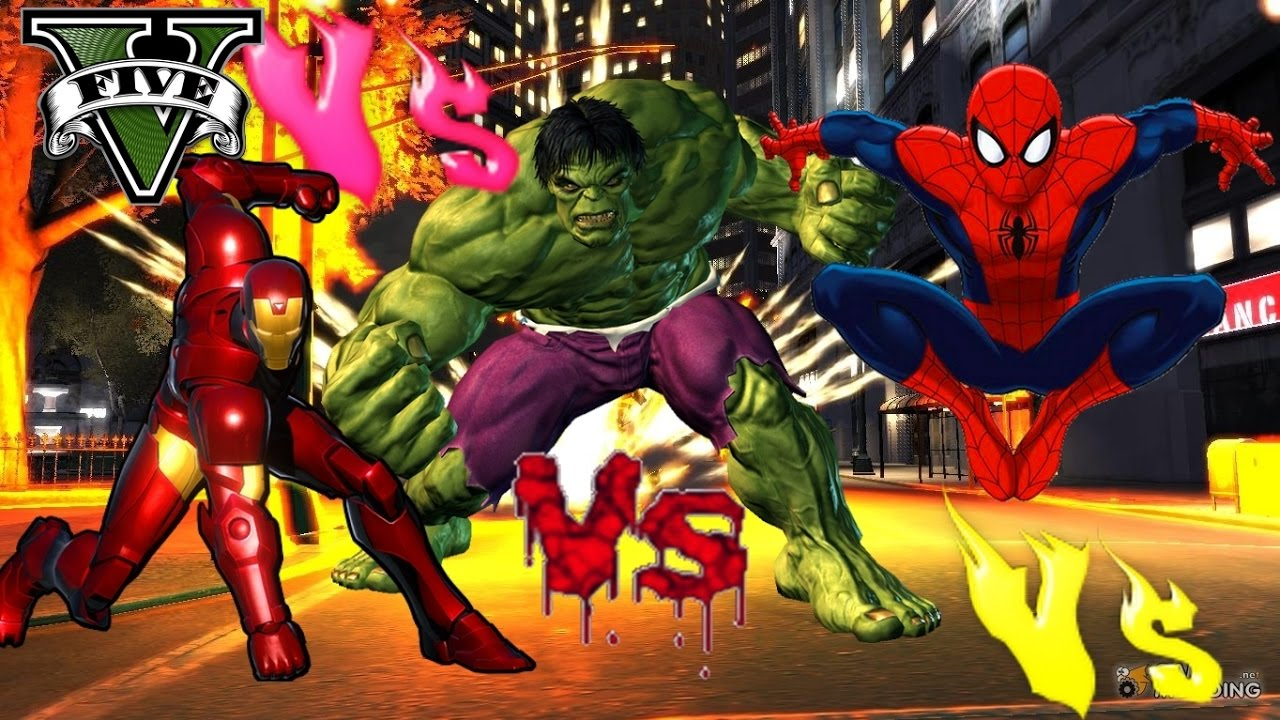 The ultimate spiderman vs hulk vs ironman mod super heroes - Spiderman ironman and hulk ...
