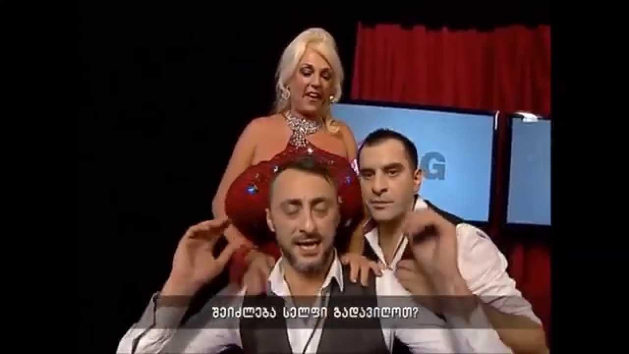 Drunk male stripper sucking woman