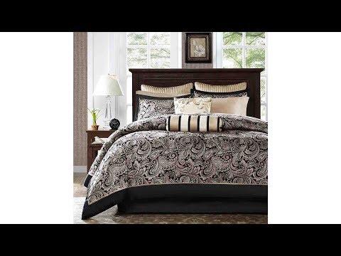 madison-park-aubrey-full-size-|-bed-comforter-set-|-bed-in-bag-|-black,-champagne,-paisley-jacquard