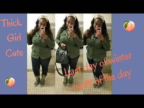 [VIDEO] - Thick Girl Cute Outfit of the day/ Last Day Of Winter 2