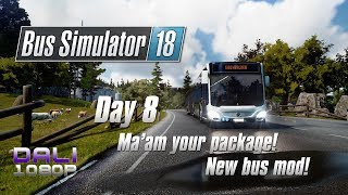 Bus Simulator 18 - Day 8 - Ma'am your package! - new bus mod Urbino 12!