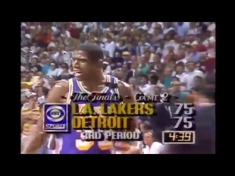 Magic Johnson Suffers Series-Ending Hamstring Injury in 1989 NBA Finals